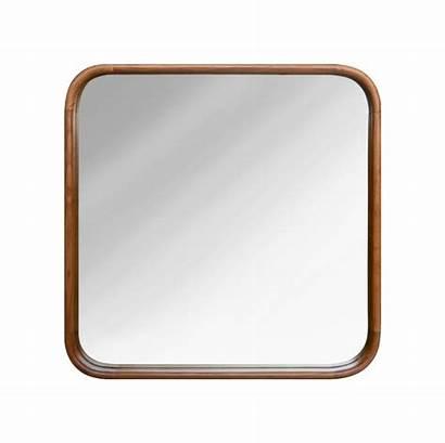 Mirror Teak Square Frame Natural Rectangle Round