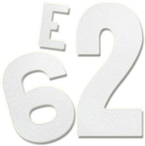numbers in letters 6 quot individual reflective letter or number sticker kln r6 49848