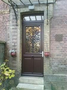 porte d39entree sur mesure en bois cloisona menuiserie With porte d entrée alu avec salle de bain chene
