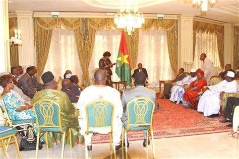 chambre de commerce et d artisanat le président du faso blaise compaoré reçoit en audience