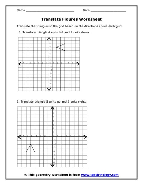 translations geometry worksheet key translation