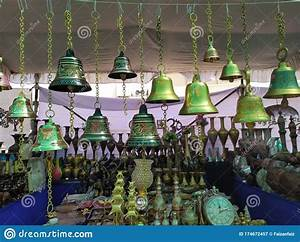 Colorful, Decorative, Metal, Bells, Lamps, Wall, Clocks, Vases, In, A, Handicraft, Shop, In, A, Fair, In