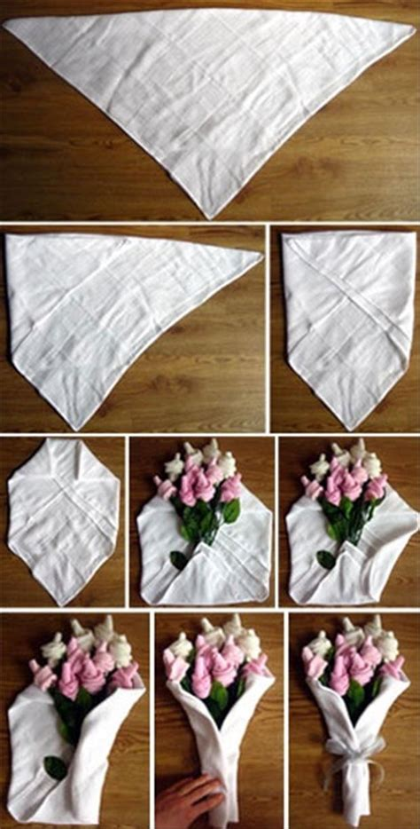 flowers crafts simple yourself bouquet baby sock wrap rose wrapping diy tutorial gifts shower easy gift roses diaper paper crafty