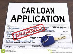 Approved Car Loan Application Form Stock Photos - Image ...