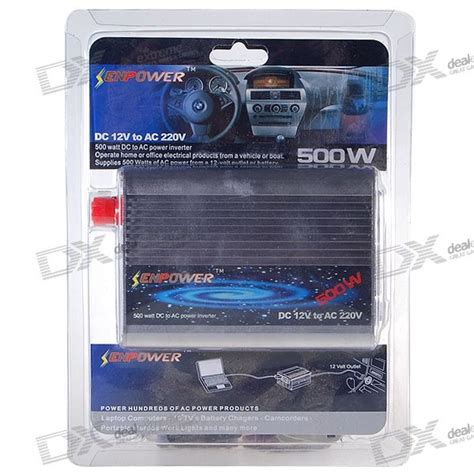 buy senpower 500w car 12v dc to 220v ac power inverter with universal socket adapter