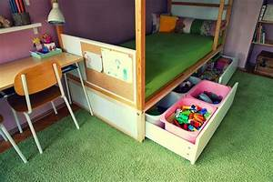 Ikea Bett Kinderzimmer : ikea kura hack storage under bed kura bed hacks kura bett kinderzimmer kinder zimmer ~ Frokenaadalensverden.com Haus und Dekorationen