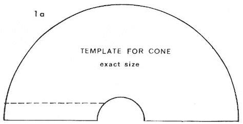 paper cone template cone template crafts paper
