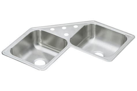 stainless steel corner kitchen sink elkay corner stainless steel kitchen sinks 8232