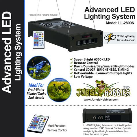 Advanced Lighting by Mistking Misting Systems By Jungle Hobbies Ltd