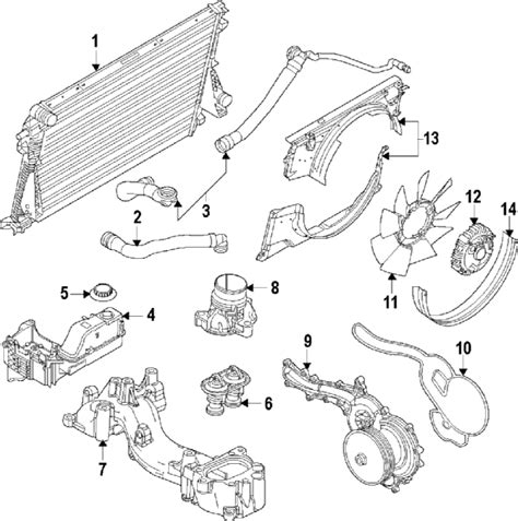 Ford F 350 Part Diagram by Parts 174 Ford Water Assy Partnumber Bc3z8501a