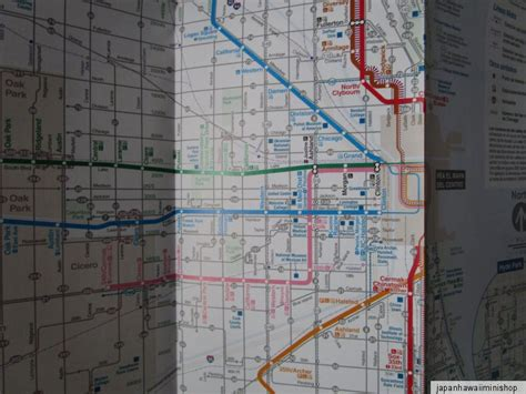 5 Maps Chicago Usa Bus Rail Train Map Cta Subway Mapa