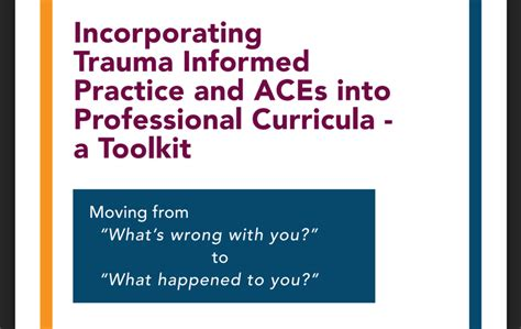 incorporating trauma informed practice  aces