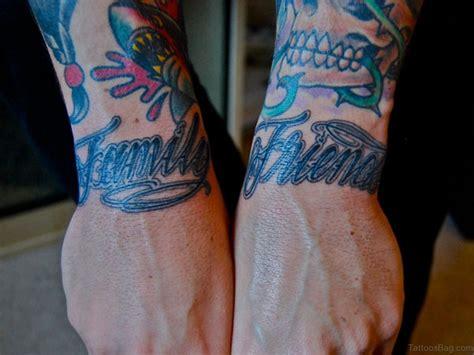 pretty family wording tattoos  wrist