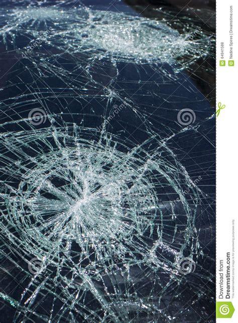 hail damage  windshield stock photo image