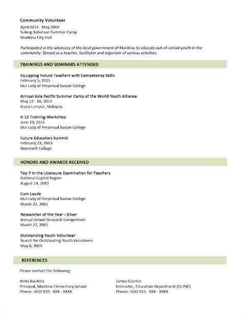 contoh resume dan resume temuduga