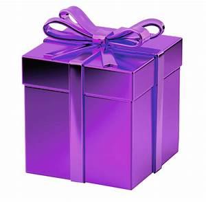 Purple gift box transparent background image