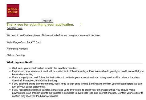 Just Applied For Wells Fargo Cash Back Visa!!!!