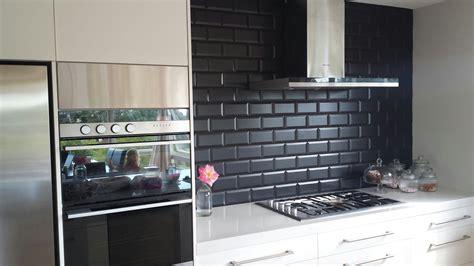 black kitchen backsplash image of black subway tile kitchen backsplash home