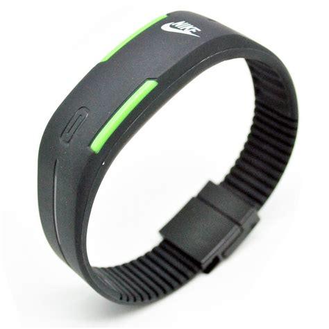 Jam Tangan Gelang Led Sporty Murah jam tangan led gelang sport nikey black
