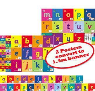 school educational posters alphabet banner  chart  teachers
