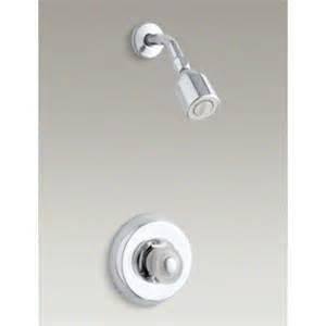 coralais shower faucet trim with sculptured acrylic handle