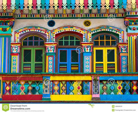 modern colonial house plans colorful facade of building in india