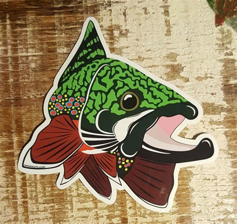brook trout sticker decal fly fishing kype char 4 x 4 1 2