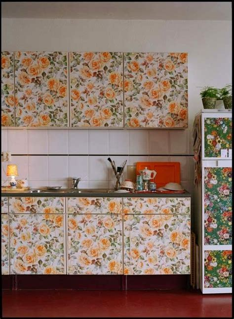 wallpaper cabinet doors gallery
