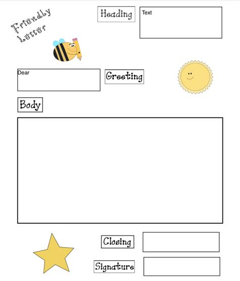friendly letter graphic organizer  pages  fit