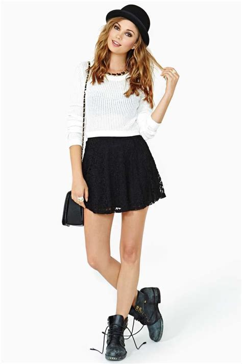 Black Skater Skirt Outfits | www.imgkid.com - The Image ...