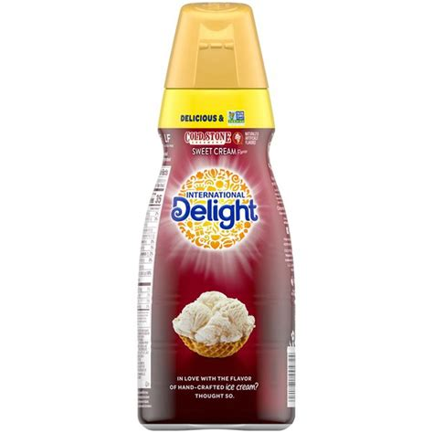Give your beverage a bold and refreshing flavor with international delight cold stone creamery sweet cream in a 32 oz. International Delight Cold Stone Creamery Sweet Cream Coffee Creamer (32 fl oz) from El Super ...