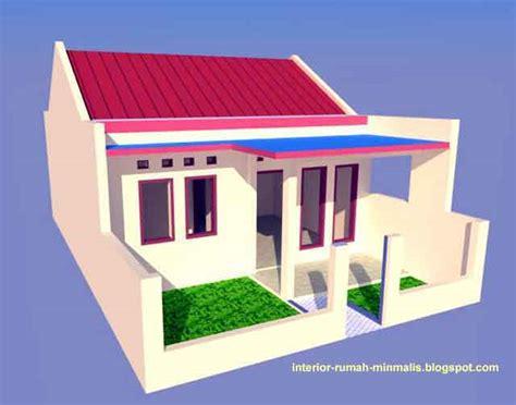 gambar desain rumah sederhana minimalis kpr btn type