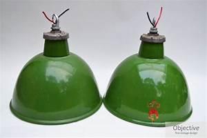 Pr industrial green enamel ceiling lights objective