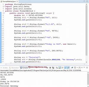 Java stringformat method for Java string template