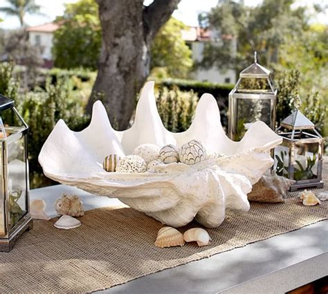 Large Clam Shell Decoration - clam shell pottery barn