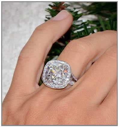 big diamond engagement rings  excite