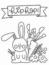 Easter Coloring Printable Spring Bunny Colouring Printables Hop sketch template