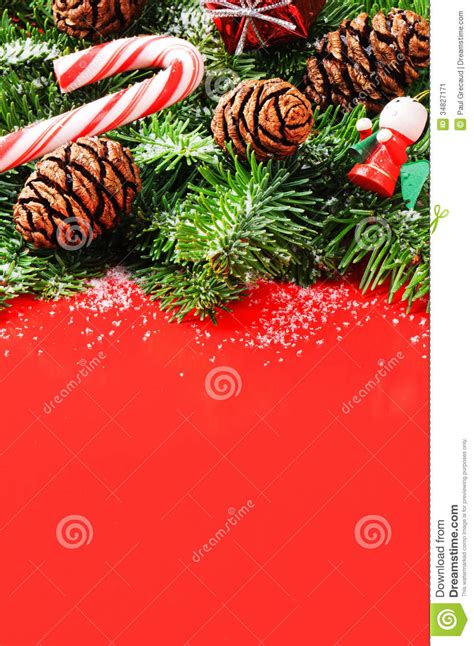 christmas tree branches  pine cones  vintage