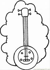Banjo Guitar Coloring Instruments Bass Pages String Template Printable Coloringpages101 Sketch Templates Categories sketch template