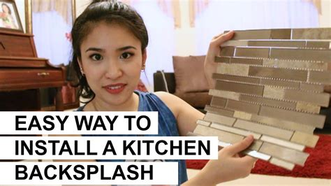 how to instal backsplash in kitchen easy way to install a kitchen backsplash diy 8677