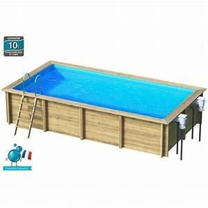 piscine bois enterree rectangulaire idee interessante With amazing piscine en bois semi enterree pas cher 8 les differents types de piscine hors sol en bois