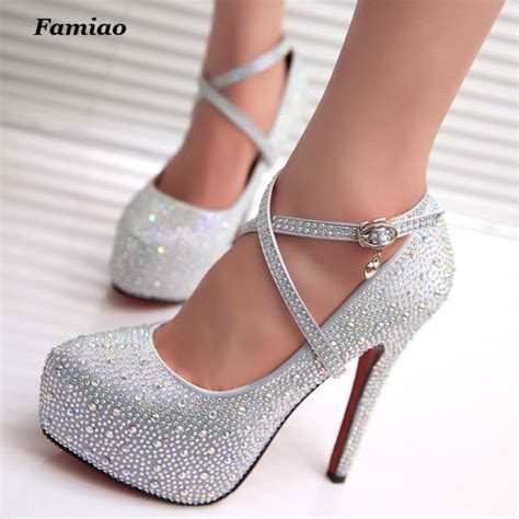Wedding High Heels by Famiao High Heels Prom Wedding Shoes