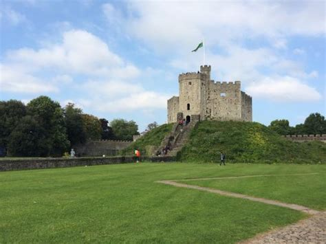 beautiful motte  bailey castle picture  cardiff