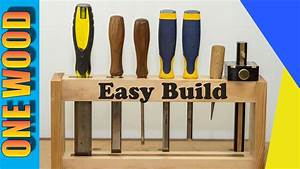 Beginners Woodworking Project - DIY Chisel Rack One Wood