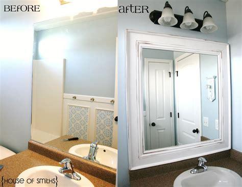 How To Frame Bathroom Mirrors by Diy Framed Mirror Tutorial