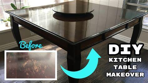 diy refinishing kitchen table tutorial wood stripped