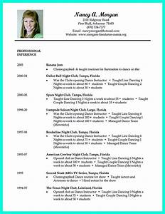 dance resume can be used for both novice and professional With dance resume format