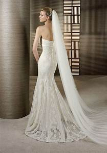 looking sexy and elegant with strapless mermaid wedding With lace mermaid wedding gown