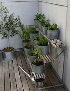 ideen balkon pflanzen stander terrassiert krauter gemuse With kräutergarten balkon ideen