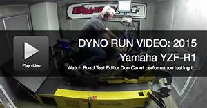 2015 Yamaha Yzf R1 Sportbike Dyno Run Video Performance